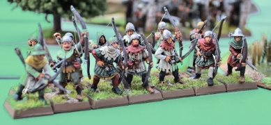 Figurines archers anglais