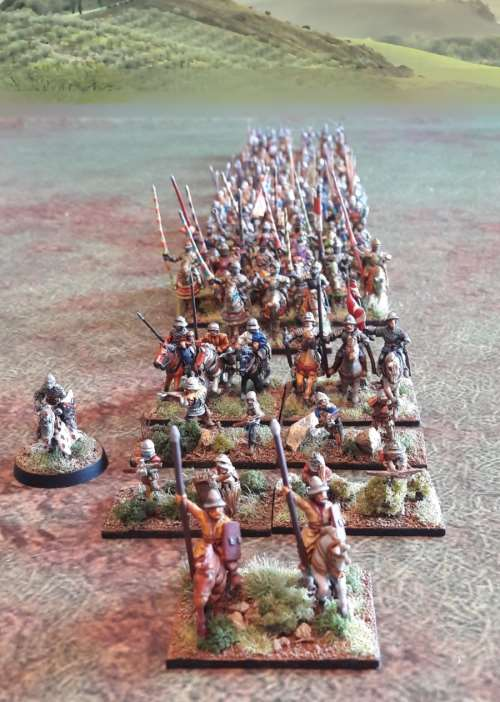 Bannerwar armée en ordre de marcue