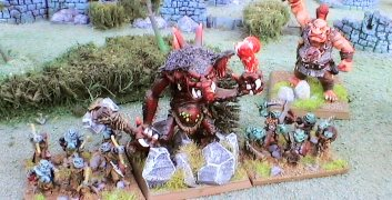 Figurines orc et troll